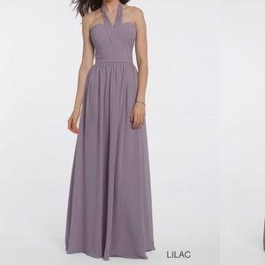 Camille La Vie Pleat Prom Wedding Maxi Dress